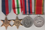 South Africa Italy Star Medal Group