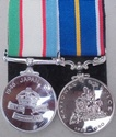 National Service Medal Pair