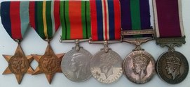 Royal Engineers WW2 Pacific Star Medal Group