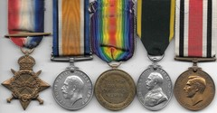 WW1 Royal Artillery Medal Group (5) to PERKINS