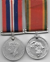 WW2 South Africa Africa Service Medal Pair