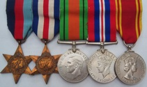 WW2 RAF Medal Group With Fire Service LSGC